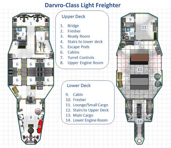 Darvro-class Light Freighter annotated deckplan